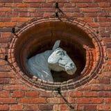 马头雕塑 图库摄影