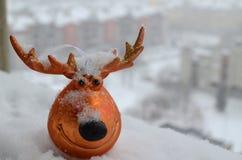 驯鹿作为圣诞节装饰 图库摄影