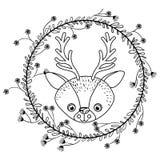 驯鹿动物动画片设计 免版税库存照片