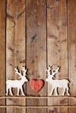 驯鹿和心脏 免版税库存照片