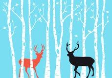 驯鹿圣诞卡,传染媒介 免版税库存图片