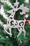 驯鹿圣诞树装饰 库存图片