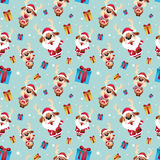 驯鹿圣诞老人样式 库存照片