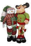 驯鹿圣诞老人雪人 免版税库存图片