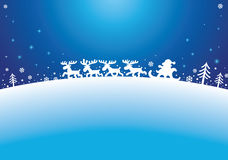 驯鹿圣诞老人 库存照片