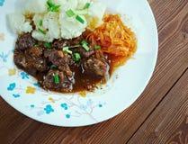 驯鹿炖煮的食物 免版税图库摄影