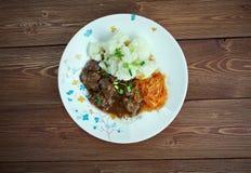 驯鹿炖煮的食物 库存图片
