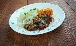 驯鹿炖煮的食物 免版税库存照片