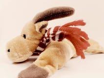 驯鹿玩具童年圣诞节鹿假日长毛绒软的冬天 库存图片