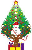 驯鹿的圣诞树 图库摄影