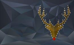 驯鹿被删去的卡片 皇族释放例证