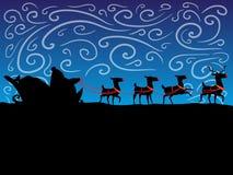 驯鹿 抽象例证闪电夜空 库存照片