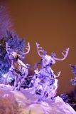驯鹿s圣诞老人雪橇 库存图片