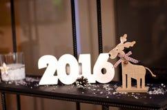 驯鹿s圣诞老人 库存照片