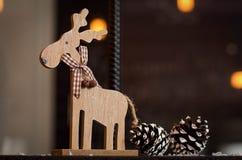 驯鹿s圣诞老人 免版税库存图片