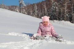 驱动乐趣爬犁冬天 免版税库存照片