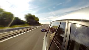 驱动于提供的视图的汽车copyspace 时间间隔 股票录像