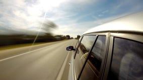 驱动于提供的视图的汽车copyspace 时间间隔