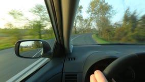 驱动于提供的视图的汽车copyspace 股票录像