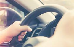 驱动于提供的视图的汽车copyspace 免版税图库摄影