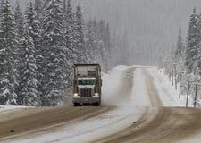 驱动冬天的情况 库存图片