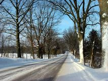 驱动冬天 图库摄影