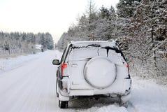 驱动冬天 库存图片