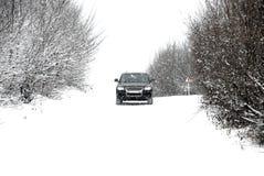 驱动冬天 库存照片