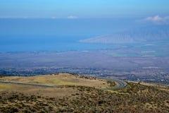 驱动到Haleakala 图库摄影