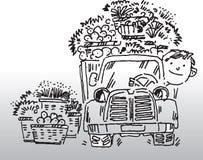 驱动器卡车 库存例证
