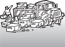 驱动器卡车 皇族释放例证