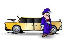 驱动器大型高级轿车 免版税库存图片