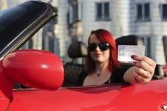 驱动器她的许可证s 免版税库存图片