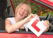 驱动器妇女年轻人 免版税库存照片