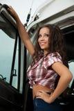 驱动器性感的卡车 图库摄影