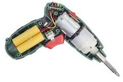 驱动器电里面螺丝 库存照片