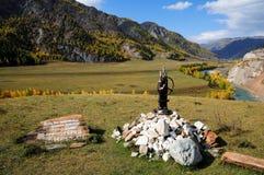 驱动器纪念碑nikolay snegirevu 免版税库存图片