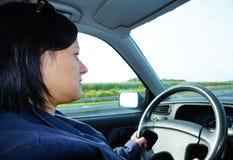 驱动妇女 免版税库存照片