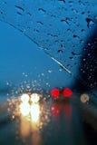 驱动雨 免版税库存照片