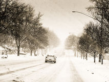 驱动雪 免版税库存图片
