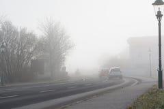 驱动雾 免版税库存照片