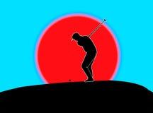 驱动高尔夫球运动员 免版税库存图片