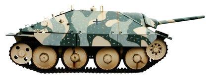 驱逐舰德国轻型坦克wwii 免版税库存照片