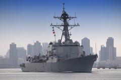 驱逐舰海军我们 图库摄影