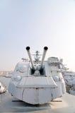 驱逐舰火炮 免版税库存图片