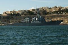 驱逐舰U S S Carney DDG-64 库存图片