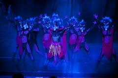 驱逐--历史样式歌曲和舞蹈戏曲不可思议的魔术-淦Po 库存照片