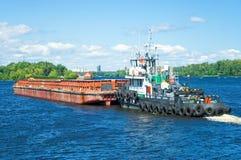 驳船容器 免版税库存照片