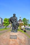 驳船搬运工-纪念碑在雷宾斯克 俄国 图库摄影