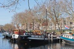 驳船港口有历史荷兰老 免版税库存照片